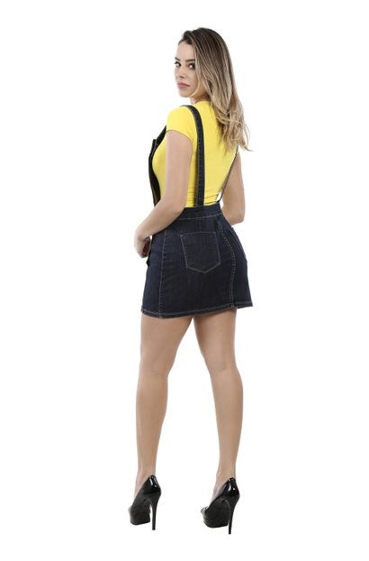 Salopete Jeans Feminina - 260315