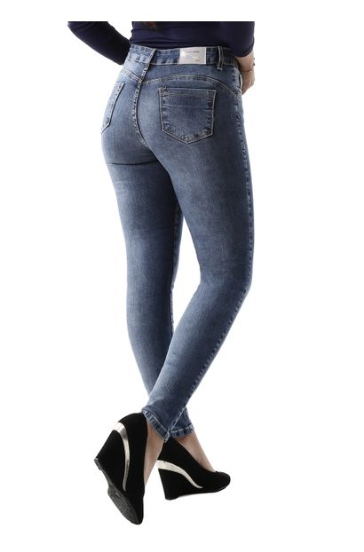 Calça Jeans Feminina Skinny Compressora - 260777