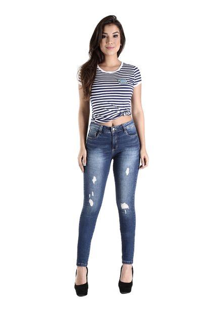 Calça Jeans Feminina Skinny Compressora - 260001