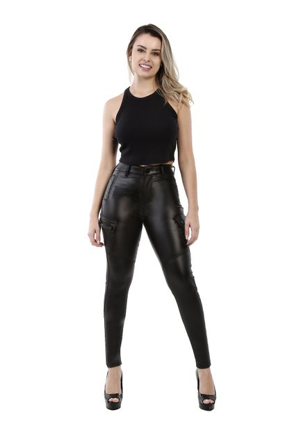 Calça Jeans Feminina Bengaline Preta - 260938
