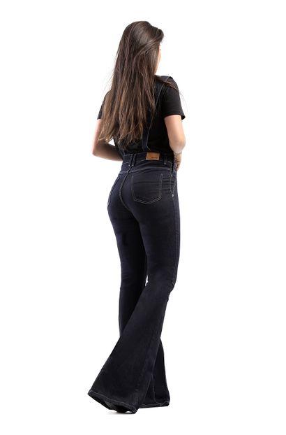 Macacão Jeans Feminino Flare - 260626