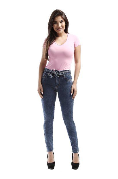 Calça Jeans Feminina Cigarrete Clochard - 261376