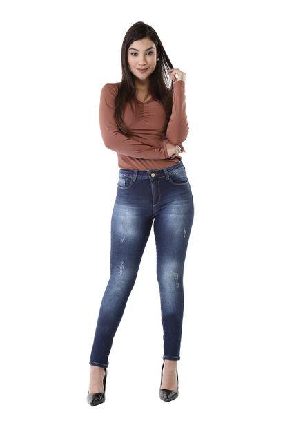 Calça Jeans Feminina Skinny Compressora - 261200