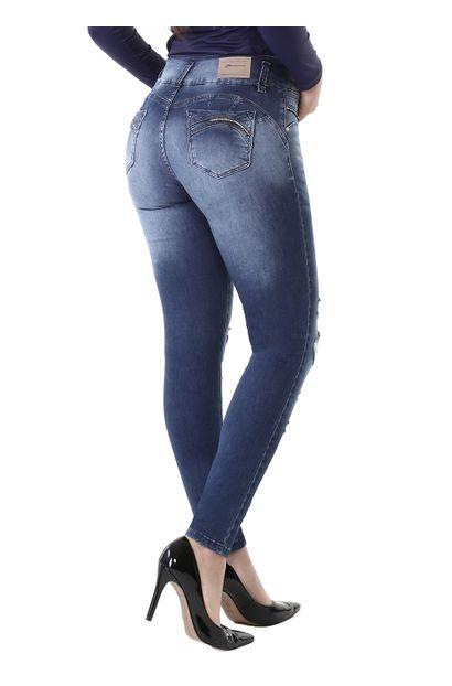 Calça Jeans Feminina Legging Modela Bumbum - 261054