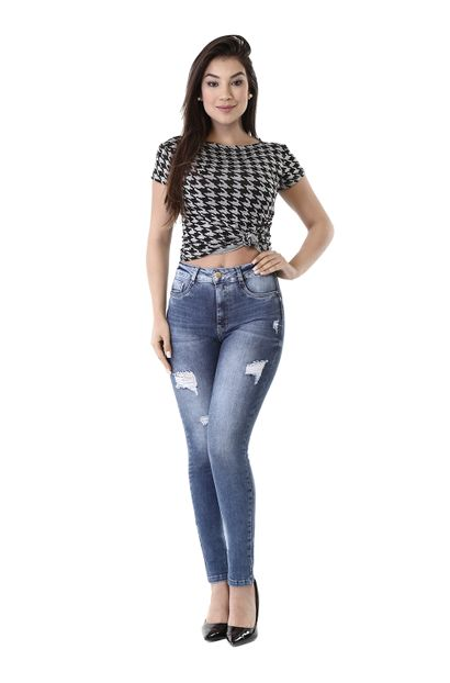 Calça Jeans Feminina Cigarrete Sculp - 260525