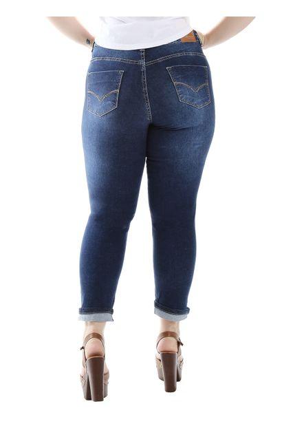 Calça Jeans Feminina Cropped Plus Size - 258896