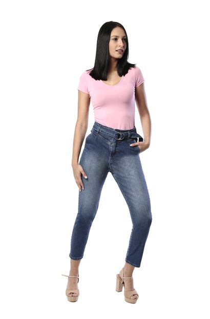 Calça jeans feminina mom - 261197