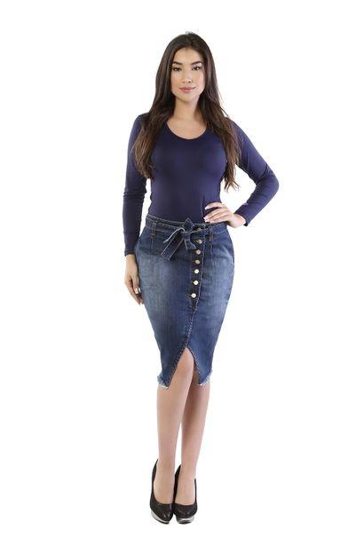 Saia Jeans Feminina - 260804