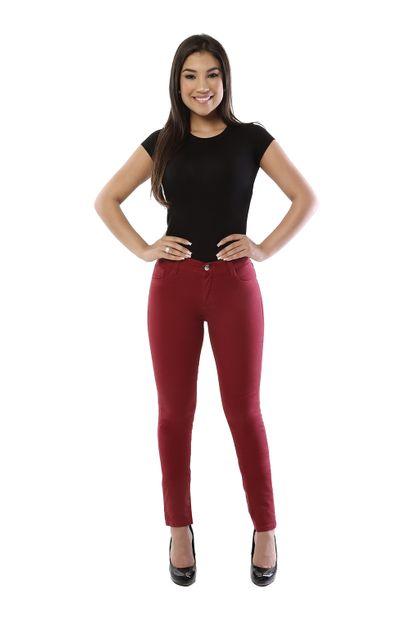 Calça Jeans Feminina Legging Hot Pants Vermelha - 261821