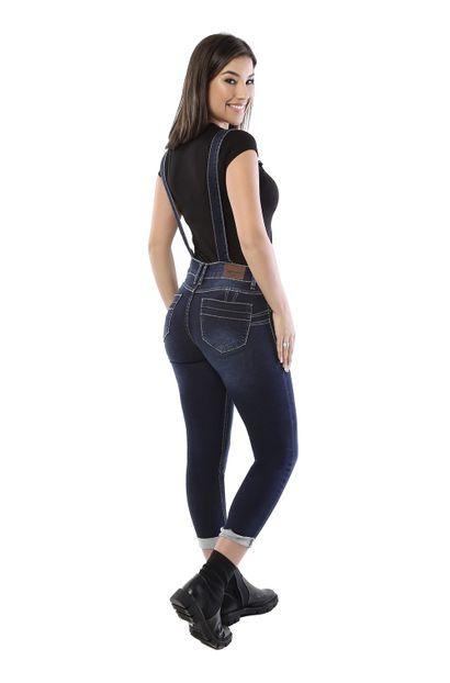 Macacão Jeans Feminino Cropped - 260518