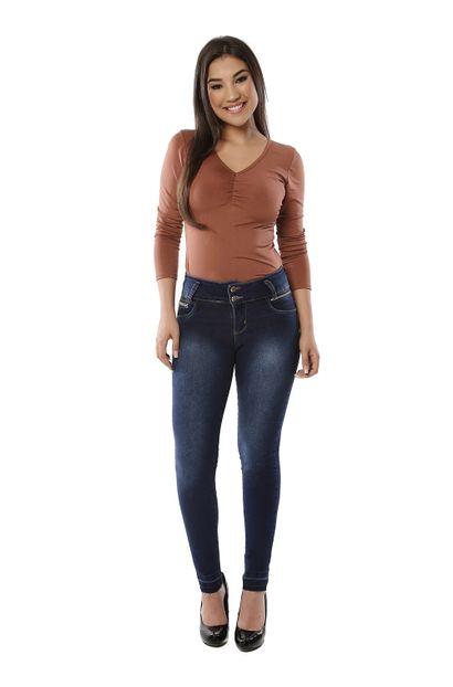 Calça Jeans Feminina Cigarrete Modela Bumbum - 261056