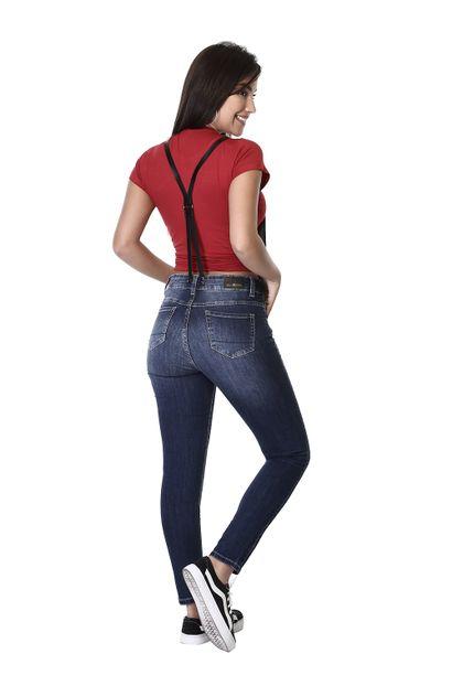 Macacão Jeans Feminino com Suspensório - 261185