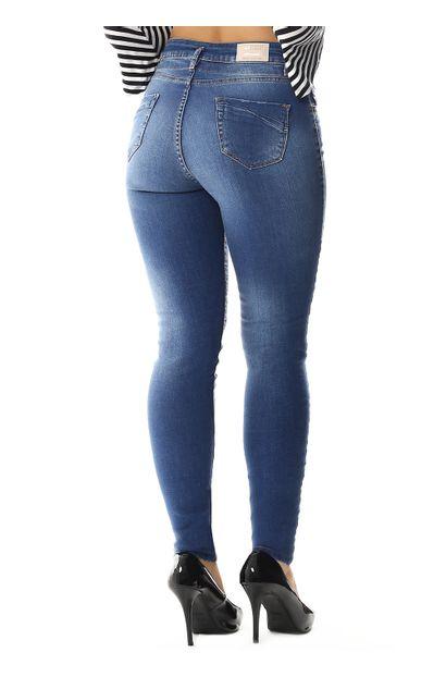 Calça Jeans Skinny com cordão-258571