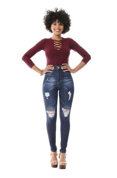 Calça Jeans Feminina Legging Super Lipo - 256021