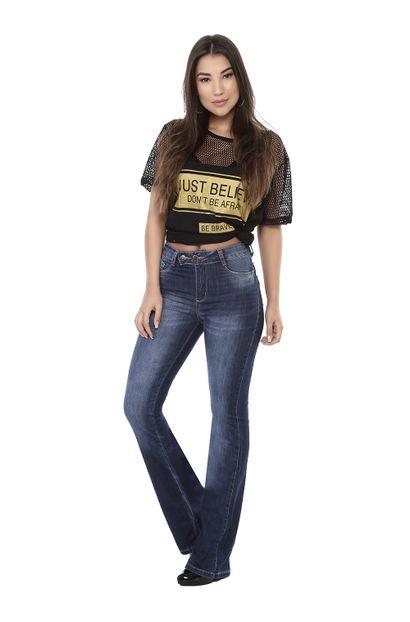Calça Jeans Feminina Flare-261569