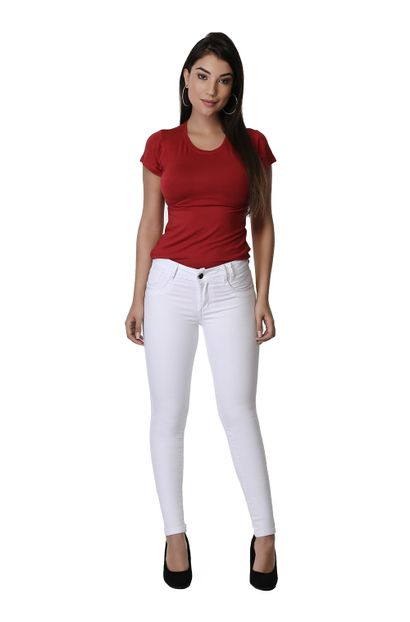Calça Jeans Feminina Cigarrete Levanta Bumbum - 261021