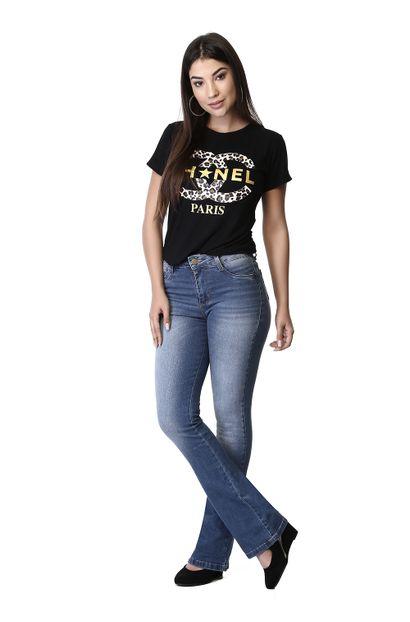 Calça Jeans Feminina Flare Push Up - 261633