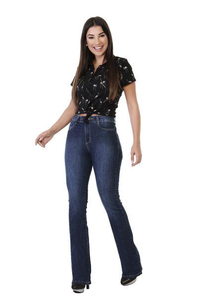 Calça Jeans Feminina Flare Boot Cut - 261647