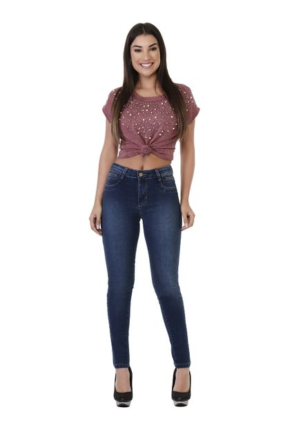 Calça Jeans Feminina Cigarrete Heart - 261668