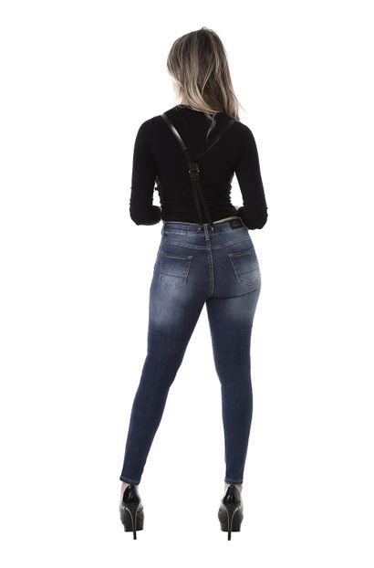Macacão Jeans Feminino - 260485