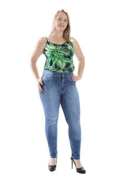 Calça Jeans Feminina Skinny Plus Size - 258792