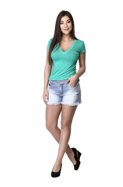 Shorts Jeans Feminino Boyfriend - 261259