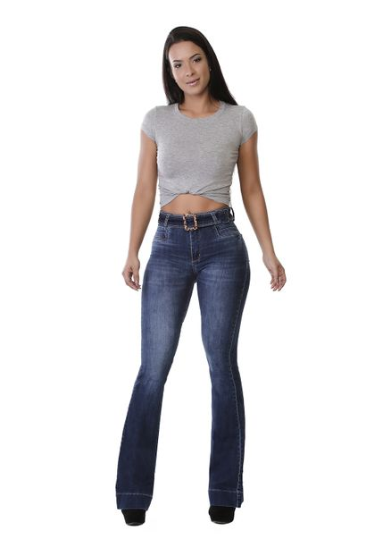 Calça Jeans Feminina Flare - 259728