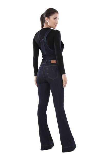Macacão Jeans Feminino Flare - 261228
