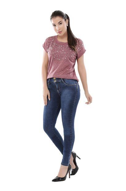 Calça Jeans Feminina Legging Modela Bumbum - 261146