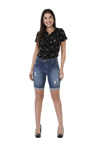 Bermuda Jeans Feminina Push up - 261727
