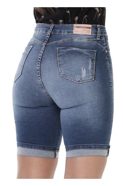 Bermuda Jeans Feminina Push up - 261727