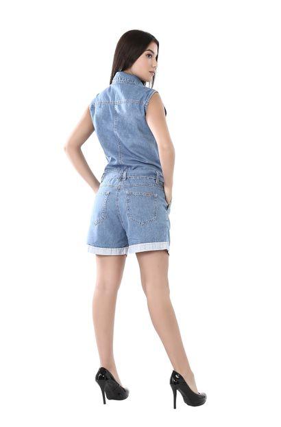 Macaquinho Jeans Feminino - 261915
