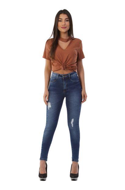 Calça jeans feminina legging super lipo - 262333